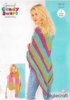 Yarn Cake, How To Make Notes, Crochet Top, Shawl, Stitch, Lady, Color, Tops