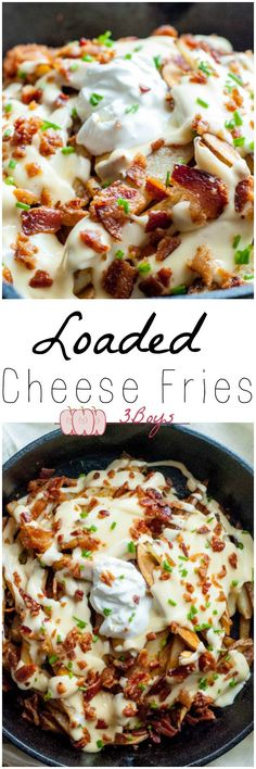 These Loaded Cheese Fries are made from scratch, and are the perfect addition to any gathering! Always a hit in my house!