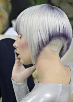 Wella Trend Vision Award Brazil, 2012 / Hair and Make-Up by JR Leal #hair #cut #color #style #lilac #lavender #pastel #lowlights #platinum #inverted #bob #directional #fashion #forward #JR #Leal #JRLeal