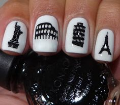 The Fancy Side: Guest Post: Cynthia from Of Life and Lacquer.  Stamping nail art. NY, Italy, Paris - travel nails