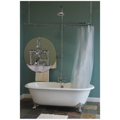 clawfoot tub shower enclosure kit. Clawfoot Tub Faucet with 24 x 54 Shower Enclosure and Cross Handles by  Cheviot Bathroom remodel Pinterest enclosure