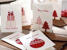 christmas card making 1346502849 231 Mehr Homemade Christmas Cards, Christmas Cards To Make, Christmas Gift Tags, Xmas Cards, Kids Christmas, Homemade Cards, Handmade Christmas, Holiday Cards, Christmas Decorations