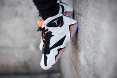 "9c1617fd410 On-Feet Photos Of The Air Jordan 7 GS ""Hot Lava!"