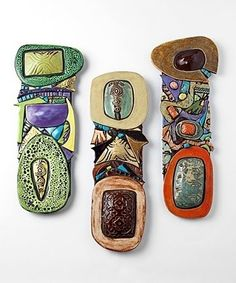 Ceramic Totems by Cathy Gerson