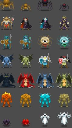 """""""Very happy with how the new sprite set is shaping up #pixelart"""""""