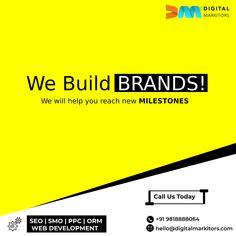 We not only build bespoke digital marketing and SEO strategies but BRANDS! We only want to see our clients climb the ladder of success. And to make it happen, we offer result-driven and ROI-oriented digital marketing solutions. To discuss your business and its precise digital marketing needs, get in touch with us on +91-9818888064 now! Best Seo Services, Best Seo Company, Seo Agency, Seo Strategy, Web Development, Ladder, Bespoke, Digital Marketing, Success