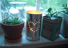 Take a few tin soup cans from the recycle bin and change their future! Create a unique lantern to set a fun and romantic mood for any pa...