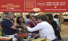 ¿ Sabías qué Caprichos del Paladar, está presente en la Feria Summer Fancy Food Show  de Nueva York?  ¡Llevando nuestros productos vegetales Gourmet a todo el mundo !
