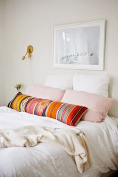 Dusty pink pillows