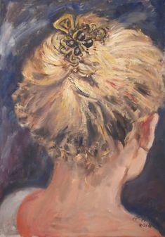 Original Portrait Painting by Ellen Fasthuber-huemer Oil On Canvas, Canvas Art, Original Paintings, Original Art, Impressionism Art, Photorealism, Buy Art, Hair Clips, Saatchi Art