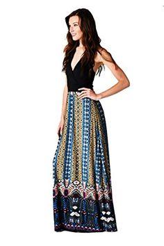 On Trend Women's Chevron Halter Maxi Dress