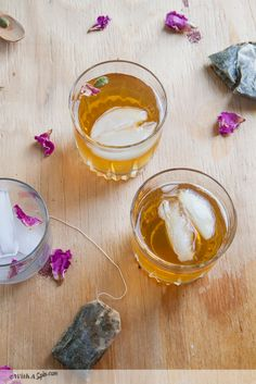 Exotic Iced Tea Recipe | cardamom infused green tea with rose-water, honey and a hint of saffron