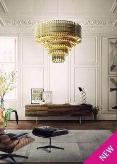 matheny suspension light fixture chandelier brass tubes stilnovo style delightfull unique lamps
