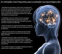 Indicações mais frequentes para avaliação neuropsicológica