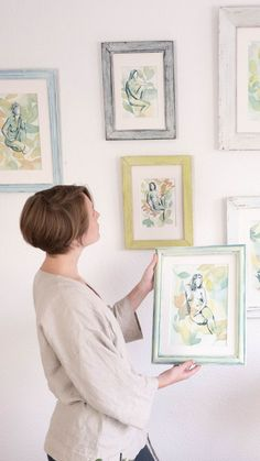 A collection of paintings inspired by nature and our connection with it, specially through the feminine energy. Perfect as decoration in a home with plants and greenery.#watercolorart #watercolordecor #homedecorart #wallartdecor #botanicalwatercolor #figureart Boho Bedroom Decor, Self Conscious, Feminine Energy, Figurative Art, Wall Art Decor, Greenery, Watercolor Paintings, Connection, Beautiful Pictures