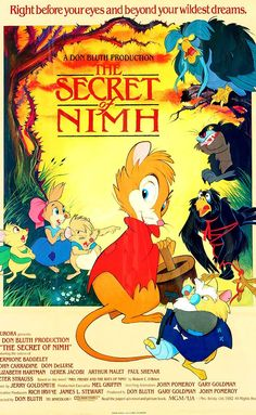 """""""The Secret of NIMH"""" - To save her ill son, a field mouse must seek the aid of a colony of rats, with whom she has a deeper link than she ever suspected. (1982)"""