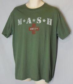 MASH M*A*S*H 4077th Green Graphic Tee T-Shirt size L Large 100% Cotton #unbranded #GraphicTee