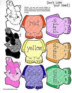 Colored elephant file folder game 1/2