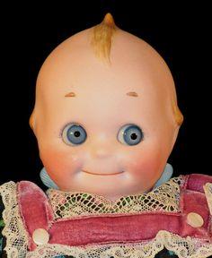 130 12 Glass Googly Eyes Kewpie Antique Doll by Alt Beck Gottschalk 1377 Pretty Dolls, Beautiful Dolls, Cupie Dolls, Kewpie Doll, Doll Toys, Baby Dolls, Kitsch, Christmas Teddy Bear, Old Dolls