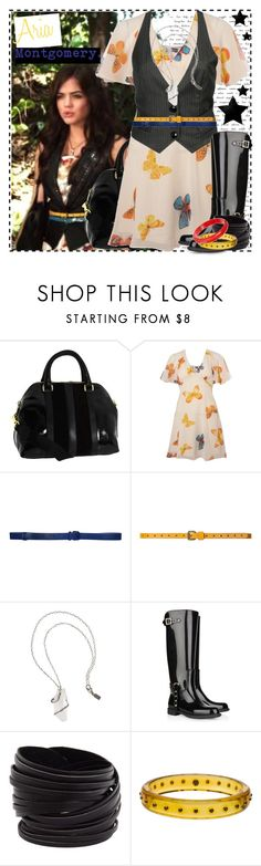 """""""Aria 1.3a"""" by silver-screen-style ❤ liked on Polyvore featuring Furla, Lipsy, Forever 21, Cacharel, Zara, Pamela Love, Valentino, Linea Pelle, Mark Davis and pll"""