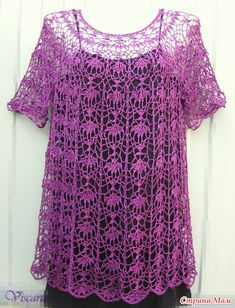 o tunica all'uncinetto A pattern of a shirt crochet, is now used as a dress or tunic!A pattern of a shirt crochet, is now used as a dress or tunic! Crochet Bodycon Dresses, Black Crochet Dress, Crochet Cardigan, Crochet Lace, Crochet Pattern, Tunic Dress Patterns, Moda Blog, Lacy Tops, Crochet Woman