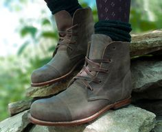 Handmade Womens Ankle Boots Made to Order by MOOSHOOS on Etsy
