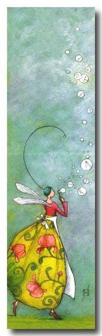 A Fairy BLowing Bubbles. by Gaelle Boissonard