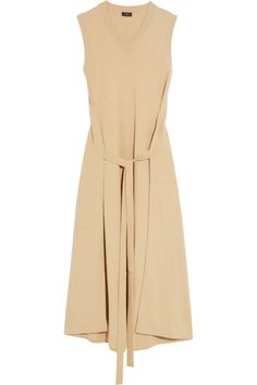 I love the soft color and design of this Joseph - April Tie-front Cotton Dress - Its all about Tie Front Dress, Tie Dress, Wrap Dress, Dress Up, Beige Dresses, Cotton Dresses, Day Dresses, Dresses For Work, Fashion Advice