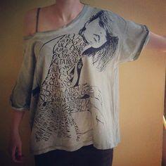Maxi T-shirt Calligramma Ghirigoro Made In Italy