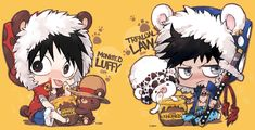 Luffy and Law