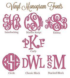 Vinyl Circle Monogram Font | Vinyl Fonts: