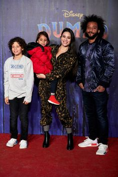 Marcelo Vieira attends to Dumbo premiere at Principe Pio Theatre in Madrid, Spain. March (Photo by A. Ware/NurPhoto via Getty Images) Real Madrid, Mc 12, Theatre, Spain, March, Football, Kids, Movies, Pretty People