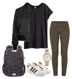 """""""Untitled #231"""" by kingrabia on Polyvore featuring H&M, Paige Denim, adidas Originals, Tommy Hilfiger, The North Face and Topshop"""