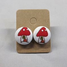5/8 Size 24 White/Red/Green/Orange Mushroom House by RatDogInk