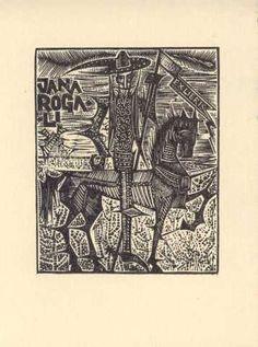 Grajek, Henryc; Polonia    EXLIBRIS JANA ROGALI, 1974    (Rogali, Jana; Polonia)
