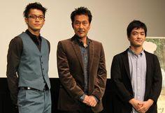 Oguri Shun, Yakusho Koji and director Okita Shuichi (The Woodsman & The Rain)