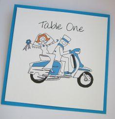 Lambretta Wedding Table Names