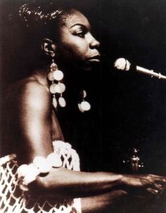 the music: Nina Simone sitting with a piano (if this is my dream party, I'm going big here) #saveur #dinnerparty