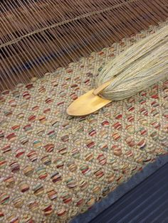 Mosaic runner in the works. This hand woven rug is for a client in Hawaii.