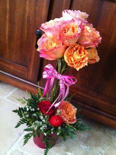 Garden Roses valentine topiary ❤