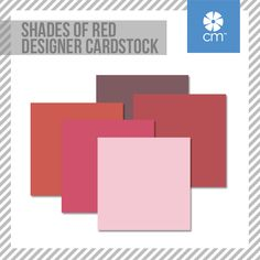 Our lovely Shades of Red Designer Cardstock is here! Lightly textured on one side with crosshatch pattern and on the other with lines, this mix of shades will add a splash of color to your projects! #CreativeMemories #Scrapbooking http://www.creativememories.com/creative-memories/decorative/paper-packs.html