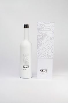 Hamanoura Sake concept is inspired by the Hamanoura region of Japan which is known for their stunning rice terraces. The topographic pattern reflects that unique element while the clean and simple design gives it more of a modern look. Wine Packaging, Food Packaging Design, Coffee Packaging, Beauty Packaging, Packaging Design Inspiration, Branding Design, Wine And Liquor, Liquor Bottles, Wine Design