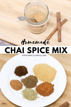 Make your own homemade chai spice seasoning with just a handful of seasoning. Many you may already have in your pantry. Add to your favorite smoothie, iced drink or overnight oats. | Simply Low Cal @simplylowcal #chaispiceseasoning #chaiseasoning #diychaispice #makeyourownchai #chaispice #simplylowcal