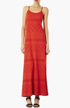 Topshop Burnout Maxi Dress available at #Nordstrom