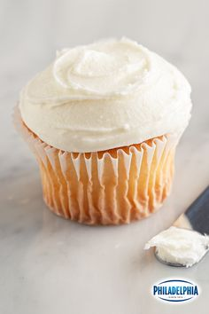 Bye bye store-bought frosting! All you need is 10 minutes & 4 ingredients to make your own delicious frosting with PHILADELPHIA Cream Cheese!