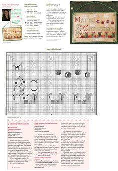 Cross Stitch XS Merry Christmas Ornament, Just Cross Stitch Christmas Ornaments 2014, Vol. 32, No. 6 - New York Dreamer