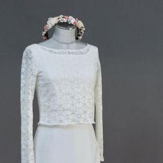 noni | Braut Top, Spitzentop aus grober  Spitze in Vintage Boho Stil