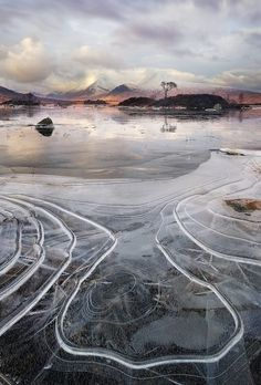 Ice Contours, lochan na h-achlaise by John Robinson on 500px