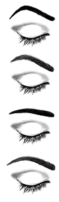 how to draw an eyebrow arch