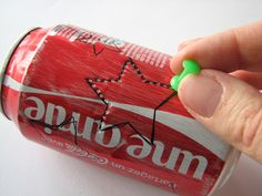 Créer un lampion photophore en recyclant une canette